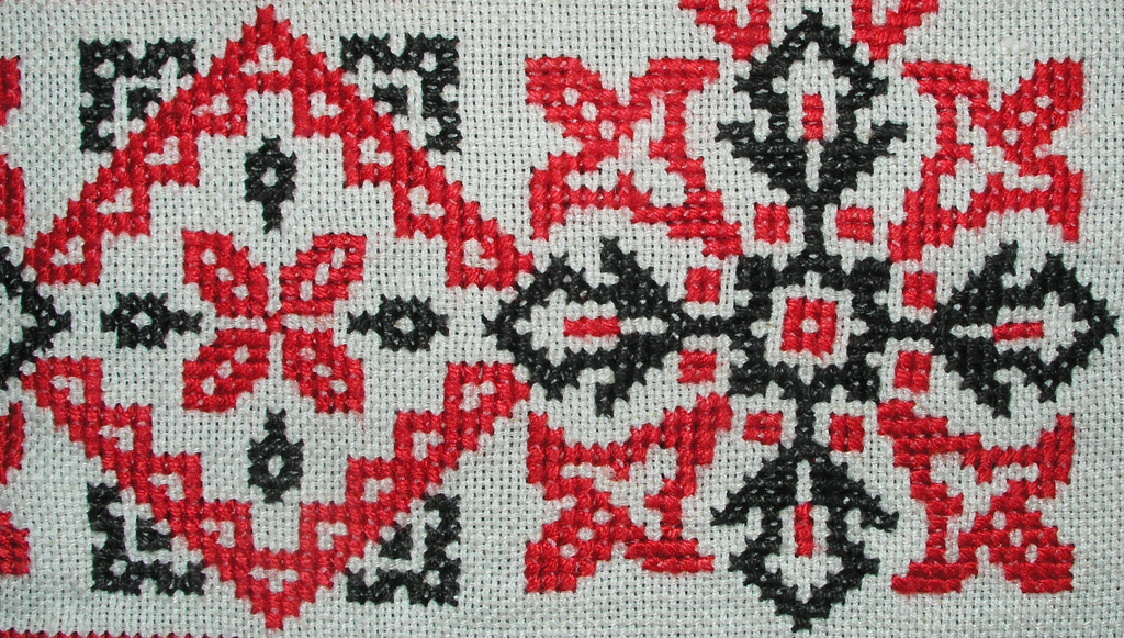 Cross stitch detail